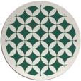 rug #120333 | round green rug