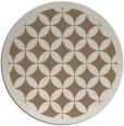 rug #120353 | round beige traditional rug
