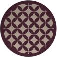 rug #120357 | round pink borders rug