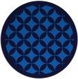 rug #120369 | round blue borders rug