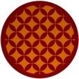 rug #120389 | round red-orange borders rug