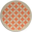 rug #120397 | round orange borders rug
