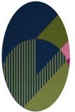rug #1203987 | oval blue abstract rug