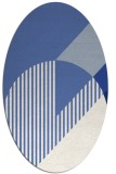 rug #1203991 | oval blue graphic rug