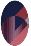 rug #1204035 | oval blue-violet graphic rug