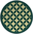 rug #120405   round blue-green borders rug