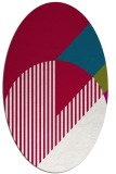rug #1204059 | oval red graphic rug