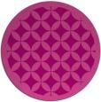 rug #120409 | round pink borders rug