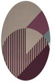 rug #1204111 | oval pink graphic rug