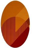 rug #1204155 | oval red-orange graphic rug