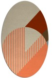 rug #1204164 | oval abstract rug