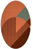 rug #1204167 | oval red-orange abstract rug