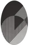 rug #1204167 | oval orange graphic rug