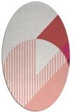 rug #1204184 | oval abstract rug