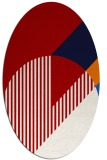 rug #1204203 | oval red abstract rug