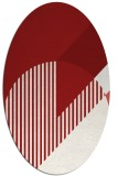 rug #1204211 | oval red abstract rug