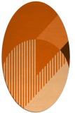 rug #1204223 | oval red-orange geometry rug