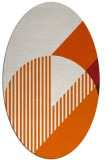 rug #1204231 | oval red-orange rug
