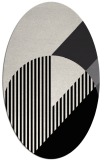 rug #1204235 | oval white graphic rug