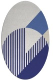 rug #1204243 | oval white abstract rug