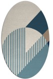 rug #1204255   oval blue-green abstract rug