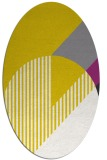 rug #1204271 | oval yellow graphic rug