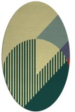 rug #1204279 | oval blue-green abstract rug