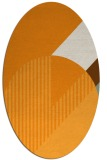 rug #1204303 | oval light-orange graphic rug