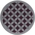 rug #120437 | round purple borders rug