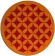 rug #120445 | round orange circles rug