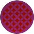 rug #120453 | round red traditional rug