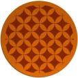 rug #120457 | round red-orange popular rug