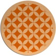 rug #120461 | round red-orange circles rug