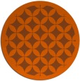 rug #120465 | round red-orange traditional rug
