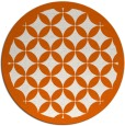 rug #120469 | round red-orange traditional rug