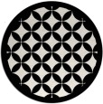 rug #120473 | round white traditional rug