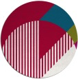 rug #1204795 | round red abstract rug