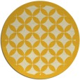 rug #120489 | round yellow traditional rug