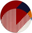 rug #1204939 | round red abstract rug
