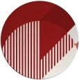 rug #1204947 | round red rug