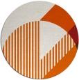 rug #1204967 | round red-orange rug