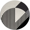 rug #1204971 | round white abstract rug