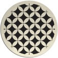 rug #120509 | round black popular rug