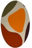 rug #1205783 | oval beige graphic rug