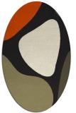 rug #1205807   oval black rug