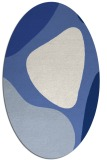 rug #1205831 | oval blue abstract rug