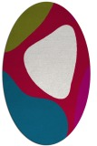 rug #1205899 | oval red abstract rug