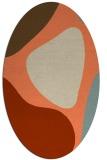 rug #1206003 | oval beige abstract rug