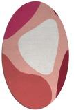 rug #1206023 | oval abstract rug
