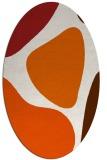 rug #1206071 | oval red-orange graphic rug